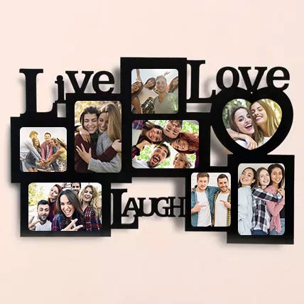 Personalised Live Laugh Love Photo Frame: Personalised Photo Frames