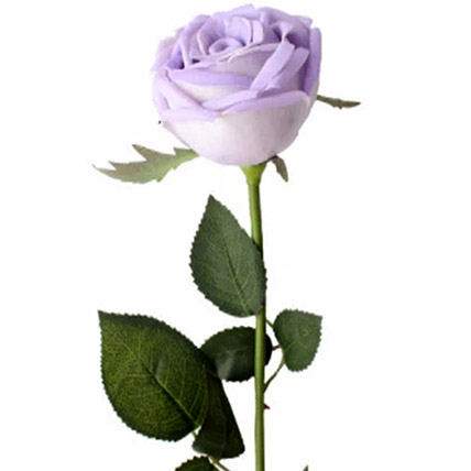 6 Artificial Violet Roses: