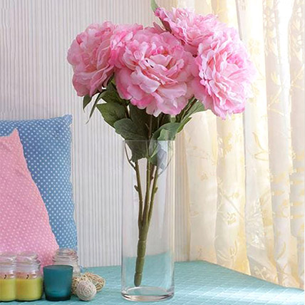 Silk Pink Peonies: