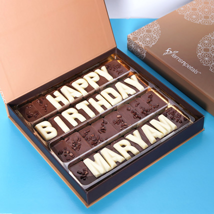 Customized Happy Birthday Chocolate: Birthday Gift Ideas