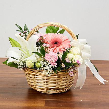 Basket Arrangement Of Gorgeous Flowers: Basket Arrangements