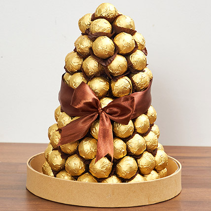 Belgian Chocolate Tower: Birthday Gifts for Boss