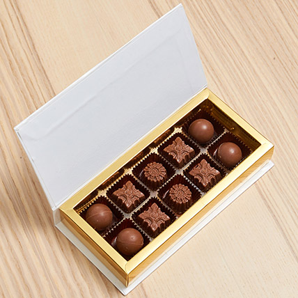 White Gift Box Of Chocolates:  Business Gifts