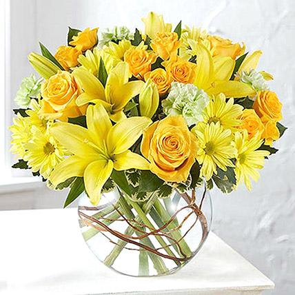 Bowl Of Happy Flowers: Birthday Flowers for Boyfriend
