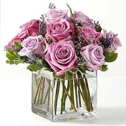 Vase Of Royal Purple Roses: Gifts for Womens Day