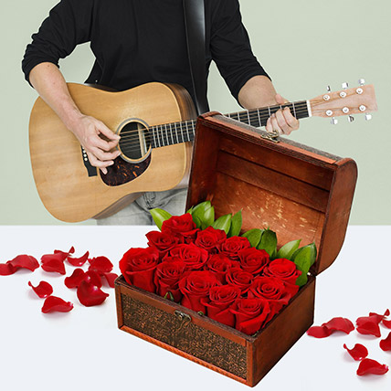 Music With The Box Of Love: Flowers and Guitarist Service