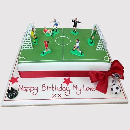 Football Pitch Cake: Football Theme Cake
