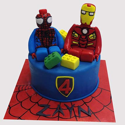 Iron Man and Spiderman Cake: Iron Man Birthday Cake