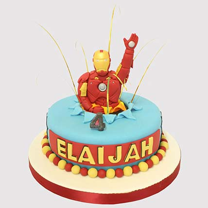 Iron Man Surprise Cake: Iron Man Birthday Cake