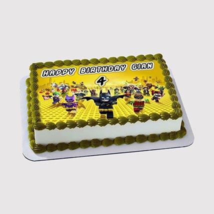 Lego Super Heroes Photo Cake: Lego Cake