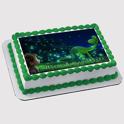 Magical Dinosaur Photo Cake: Dinosaur Theme Cakes