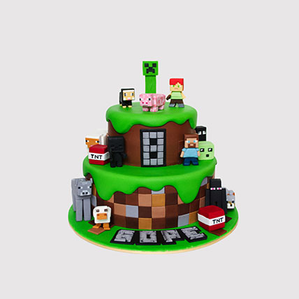 Minecraft World Cake: Minecraft Birthday Cakes