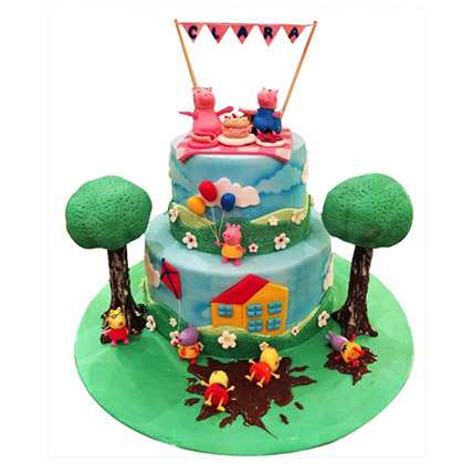 Peppa Pig Celebration Cake: Peppa Pig Birthday Cake