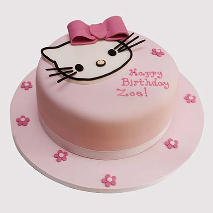 Pretty Pink Hello Kitty Cake: