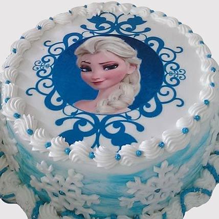 Round Frozen Photo Cake: Kids Birthday Cakes