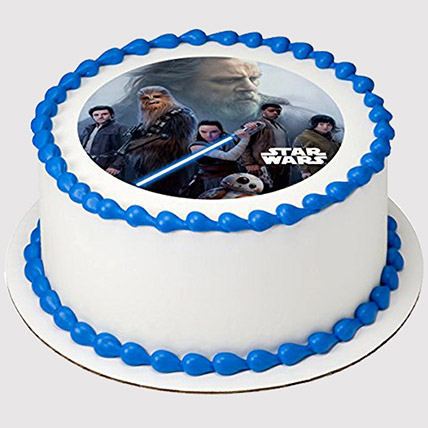 Star Wars Round Photo Cake: Star Wars Cakes