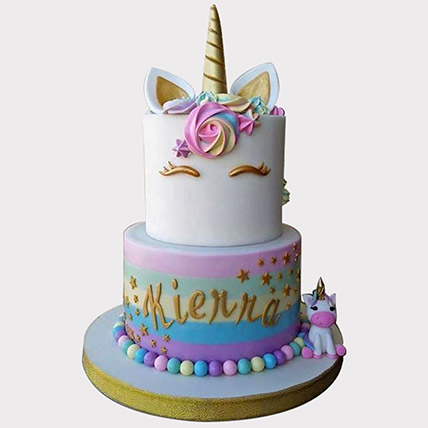 Unicorn Themed Cake: