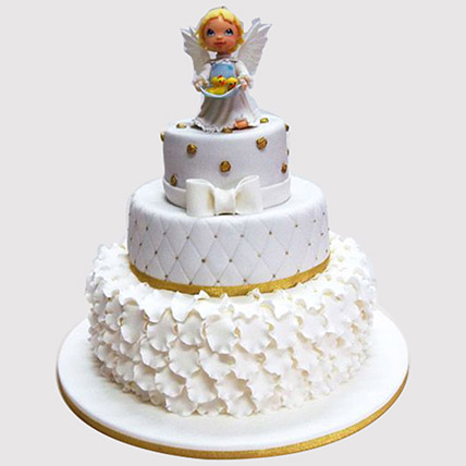 Welcome Angel Cake: Christening Cakes for Boys/Girls