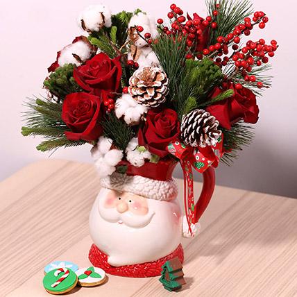 Santas Jar Or Flowers: Christmas Flowers to Fujairah