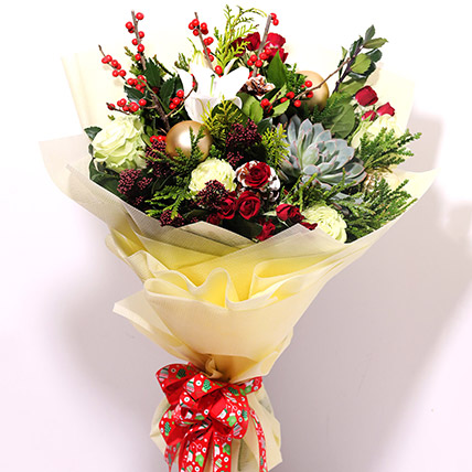 Xmas Special Flower Bouquet: Christmas Flowers to Dubai
