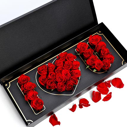 I Love You Red Roses: Flower in a Box