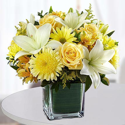 Floral Happiness Vase: Birthday Flowers for Husband