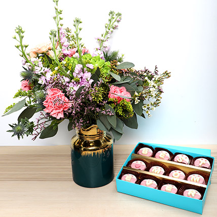 Best Mom Cookies N Flowers: Flowers & Chocolates for Mothers Day