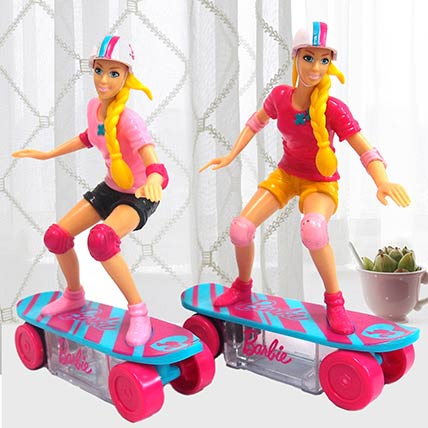 Barbie Skateboard Toy With Candies 2 Pcs: