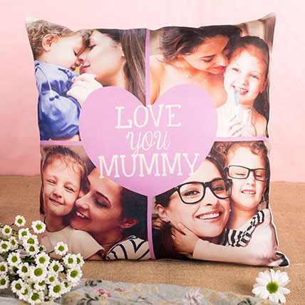 Love You Mummy Personalised Cushion: Mother's Day Gifts