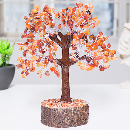 Handcrafted Agate Stone Wish Tree: