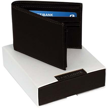 Tasteful Mens Wallet  Black: Leather Wallet