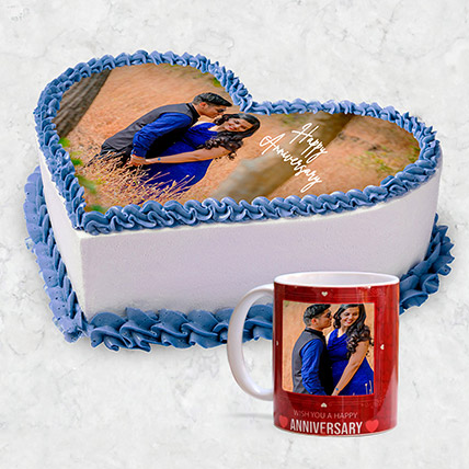 Happy Anniversary Personalised Mug And Cake:
