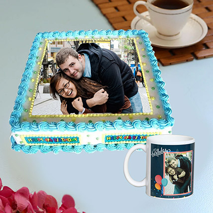 Personalised Birthday Mug And Cake Combo: Photo Cakes