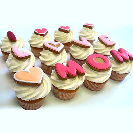 I LOVE MOM Cupcakes: Happy Mothers Day Cake