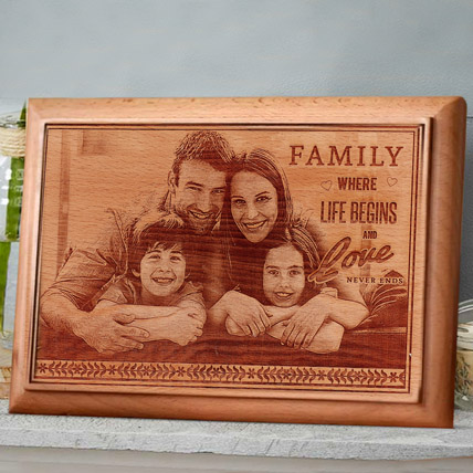 Engraved Wooden Photo Frame:  Engraved Personalised Gifts