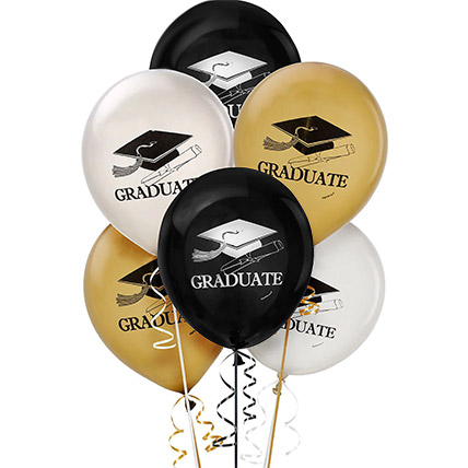6 Pcs Assorted Graduation Balloons: New Arrival Gifts in Dubai