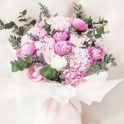 Pink Grand Affection Bouquet: Peonies Bouquets