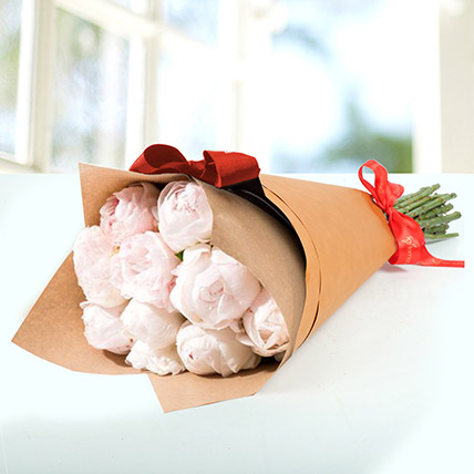 10 Light Pink Peonies Bouquet: Flower Delivery