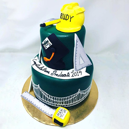 Engineering Theme Graduation Cake: Graduation Theme Cakes