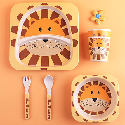Tiger Bamboo Tableware Set: Back to School Gifts