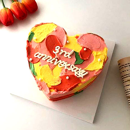Hues Of Love Cake: Heart Shaped Cake Delivery