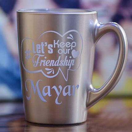 Personalised Engraved Silver Mug:  Engraved Personalised Gifts