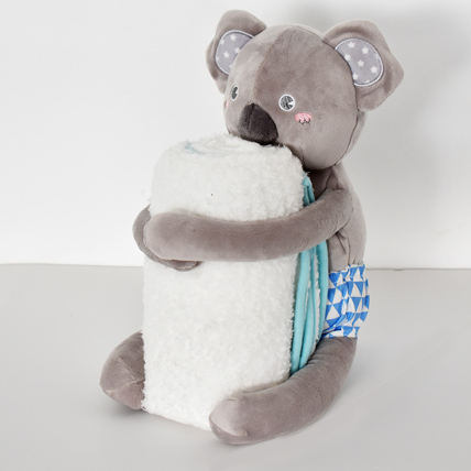 Kuala Soft Toy with Baby Blanket: