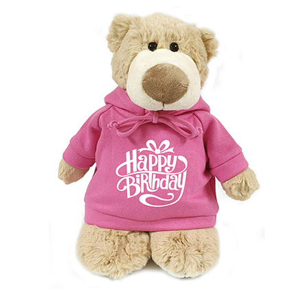 Super Soft Mascot Bear With Birthday Hoodie: Soft Toys