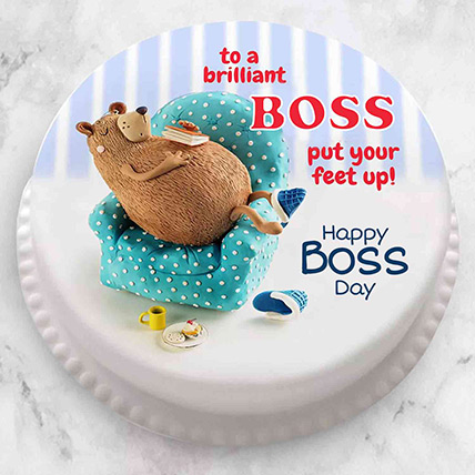 Brilliant Boss Fondant Cake: Gift Ideas for Boss