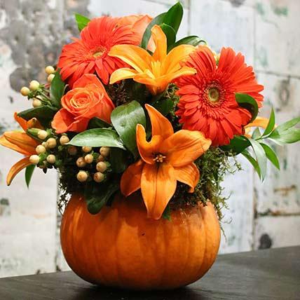 Pumpkin Floral Arrangement: Thanksgiving Gift Ideas