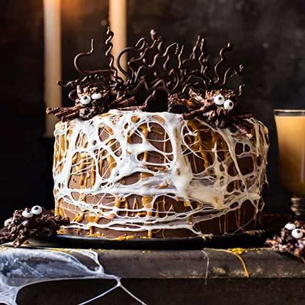 Spider Web Chocolate Cake: Halloween Gift Ideas