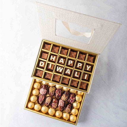 Diwali Wishes Treat Box: Diwali Chocolate Hampers