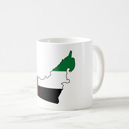 Printed UAE Map Mug: National Day Gifts