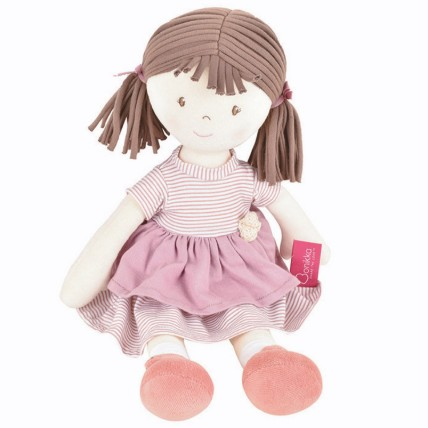 Cute Doll in Pink Dress Natural Cotton: Soft Toys